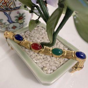Vintage Joan Rivers Multi Color Cabochons bracelet